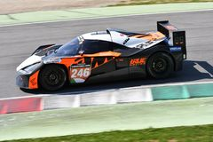 Italy - 29 March, 2019: KTM X-BOW of Reiter Engineering Germany Team. Driven by Jan Krabec/Adam Galas/Sehdi Sarmini in action during 12h Hankook Race at Mugello stock photo