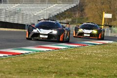 Italy - 29 March, 2019: KTM X-BOW of Reiter Engineering Germany Team. Driven by Jan Krabec/Adam Galas/Sehdi Sarmini in action during 12h Hankook Race at Mugello royalty free stock image