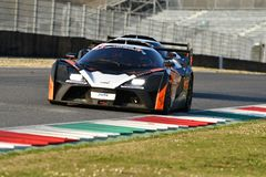 Italy - 29 March, 2019: KTM X-BOW of Reiter Engineering Germany Team. Driven by Jan Krabec/Adam Galas/Sehdi Sarmini in action during 12h Hankook Race at Mugello stock image