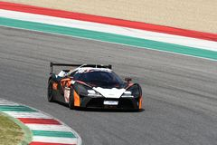 Italy - 29 March, 2019: KTM X-BOW of Reiter Engineering Germany Team. Driven by Jan Krabec/Adam Galas/Sehdi Sarmini in action during 12h Hankook Race at Mugello stock images