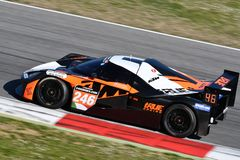 Italy - 29 March, 2019: KTM X-BOW of Reiter Engineering Germany Team. Driven by Jan Krabec/Adam Galas/Sehdi Sarmini in action during 12h Hankook Race at Mugello royalty free stock photography