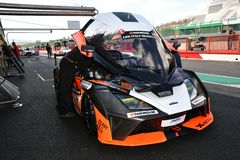 Italy - 29 March, 2019: KTM X-BOW of Reiter Engineering Germany Team. Driven by Jan Krabec/Adam Galas/Sehdi Sarmini in the Pit Lane during 12h Hankook Race at royalty free stock image