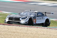 Italy - 29 March, 2019: Mercedes AMG GT3 of SPS Automotive Performance Team stock images