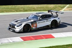 Italy - 29 March, 2019: Mercedes AMG GT3 of SPS Automotive Performance Team royalty free stock photo