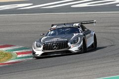 Italy - 29 March, 2019: Mercedes AMG GT3 of SPS Automotive Performance Team stock image