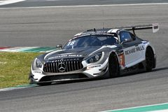 Italy - 29 March, 2019: Mercedes AMG GT3 of SPS Automotive Performance Team stock photo