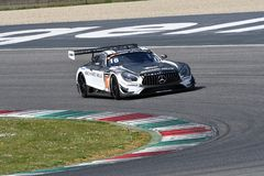 Italy - 29 March, 2019: Mercedes AMG GT3 of SPS Automotive Performance Team royalty free stock images