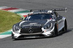 Italy - 29 March, 2019: Mercedes AMG GT3 of SPS Automotive Performance Team royalty free stock photos