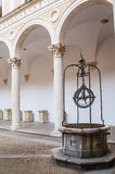 Italy, Marche region, Urbino, the Ducal Palace, the courtyard Stock Photo