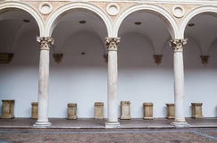 Italy, Marche region, Urbino, the Ducal Palace, the courtyard Stock Images