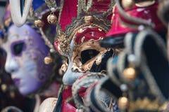italy maskering venice Arkivbilder
