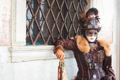 italy maskering venice Royaltyfri Bild