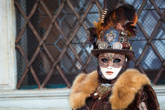 italy maskering venice Royaltyfri Foto