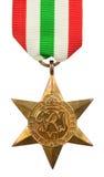 italy medaljstjärna Arkivfoto