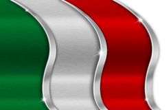 Italy Metal Flag Royalty Free Stock Photography