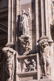 Italy, Milan Duomo cathedral wall details. Stock Photos