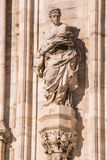 Italy, Milan Duomo cathedral wall details. Royalty Free Stock Photo