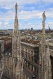 italy milan panorama- sikt Arkivfoto