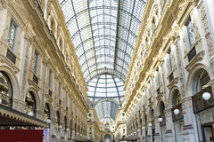 Italy, Milan  Vittorio`s galleries of Emmanuil II. Royalty Free Stock Images