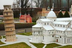 Italy miniature buildings Stock Photo