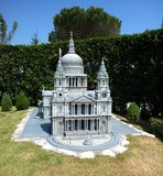 Cathedral of Saint Paul in the theme park `Italy in miniature` Italia in miniatura Viserba, Rimini, Italy. `Italy in miniature` Italia in miniatura Viserba stock images