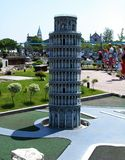 Pisa tower in the theme park `Italy in miniature` Italia in miniatura Viserba, Rimini, Italy. `Italy in miniature` Italia in miniatura Viserba, Rimini, Italy stock image