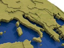Italy on model Earth Royalty Free Stock Image