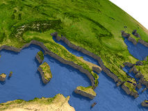 Italy on model Earth Stock Photography