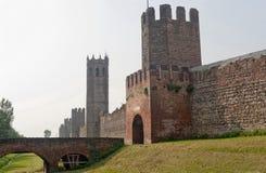 italy montagnana Padova Veneto ściany Obraz Royalty Free