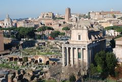 Italy monumental view of Rome Royalty Free Stock Photo
