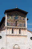 Italy, mosaic on the facade of the basilica St. Frediano in Lucca Royalty Free Stock Photography