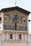 Italy, mosaic on the facade of the basilica St. Frediano in Lucca Stock Images