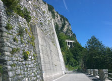 Italy, mountain view of alpine route of Monte Croce Carnico Pass Royalty Free Stock Photos