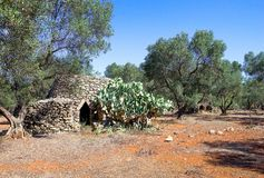 The ancient rural huts of the Puglia teriitoy Stock Images