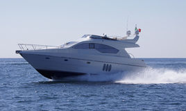 Italy, Naples bay, luxury yacht Abacus 52' Stock Photos