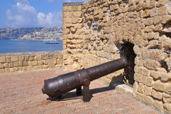 Italy,Naples,cannons of Castel dell 'Ovo Stock Image