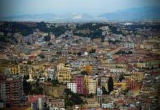italy naples panorama Arkivfoton