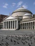 italy Naples placu plebiscito Zdjęcia Stock