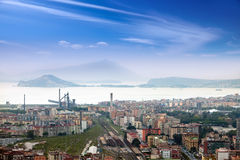 Italy. Naples. View of the city on top.Cityscape in a sunny day Stock Images