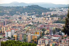 Italy. Naples. View of the city on top. Stock Photos