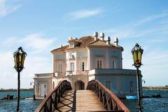 Italy - NAPOLI - Lago fusaro, Casina Vanvitelliana royalty free stock photo