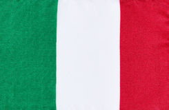Italy national flag made of fabric cloth Royalty Free Stock Images
