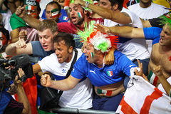 Italy national football team supporters Royalty Free Stock Photos