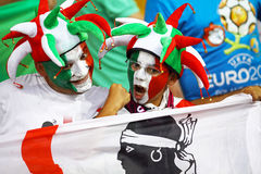 Italy national football team supporters Royalty Free Stock Images