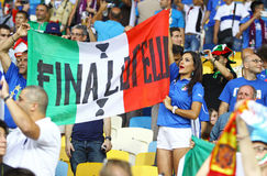 Italy national football team supporters Royalty Free Stock Photography