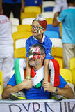 Italy national football team supporters Royalty Free Stock Photo