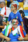 Italy national football team supporters Royalty Free Stock Image