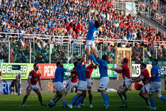 italy nationrugby sex vs wales Royaltyfria Bilder