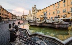 italy navona piazza Rome Fotografia Royalty Free