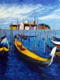 italy obraz olejny Venice Zdjęcia Stock